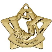 Mini Star Running Medal</br>AM724G